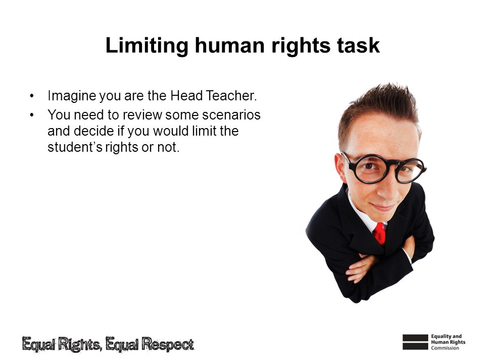 Limiting human rights task