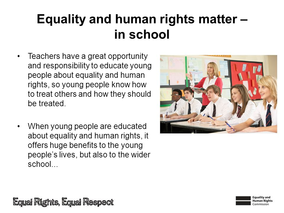 Equality and human rights matter – in school
