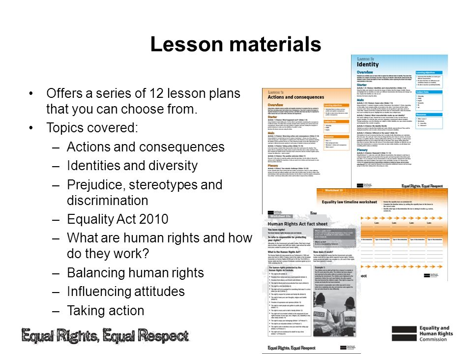 Lesson materials Offers a series of 12 lesson plans that you can choose from. Topics covered: Actions and consequences.