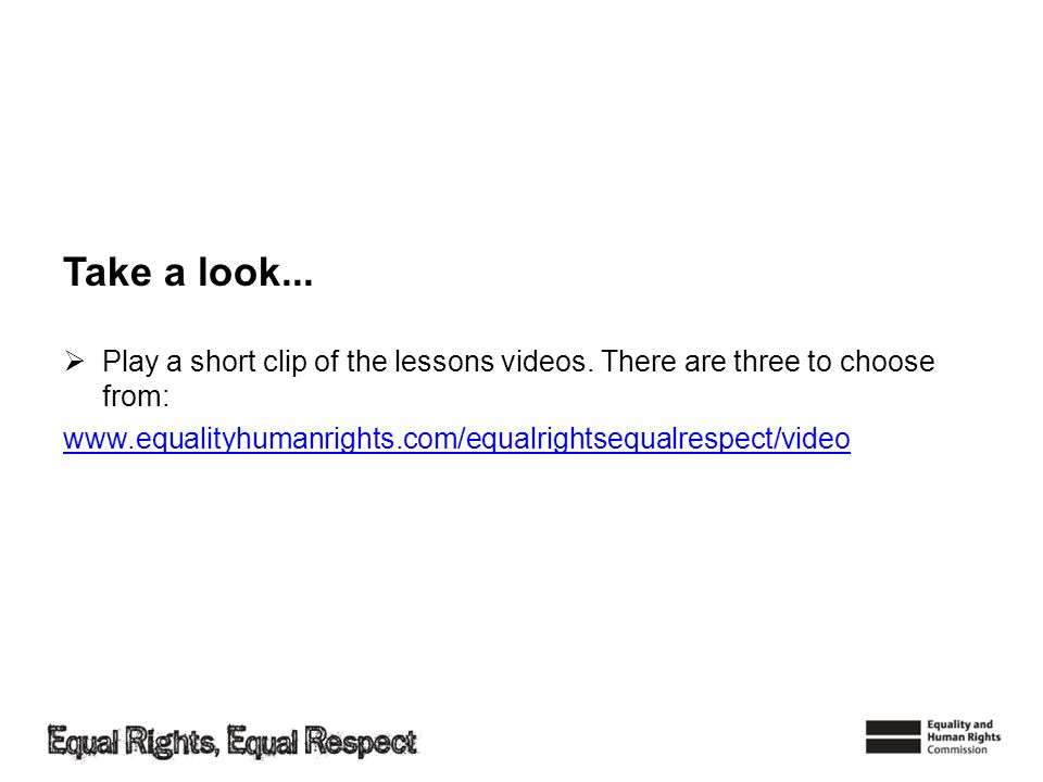 Take a look... Play a short clip of the lessons videos.