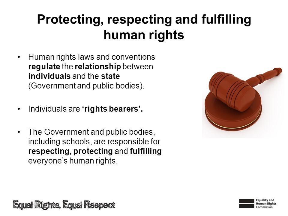 Protecting, respecting and fulfilling human rights