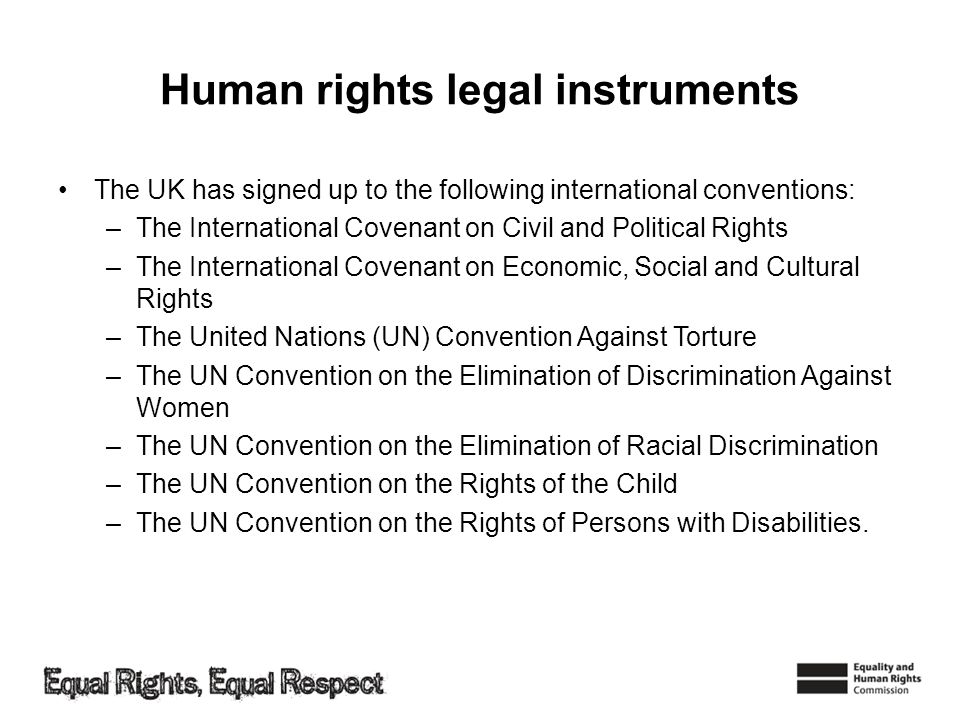 Human rights legal instruments
