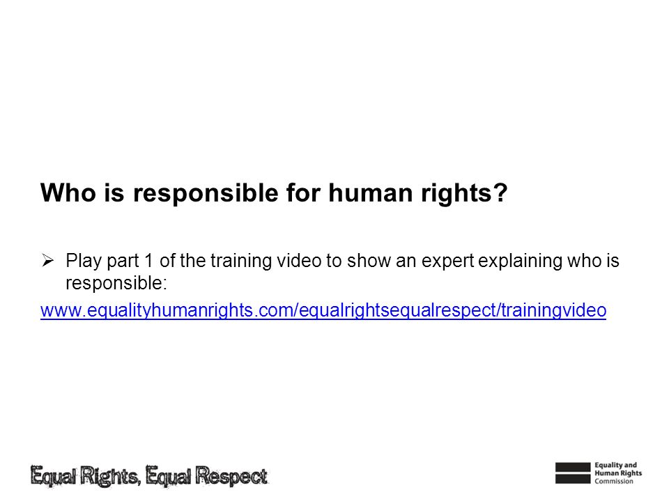 Who is responsible for human rights