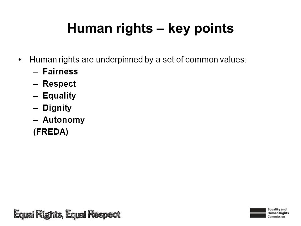 Human rights – key points