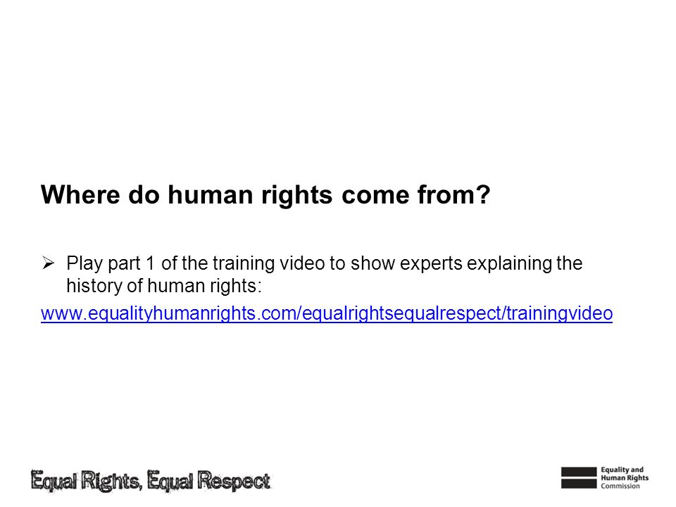 Where do human rights come from