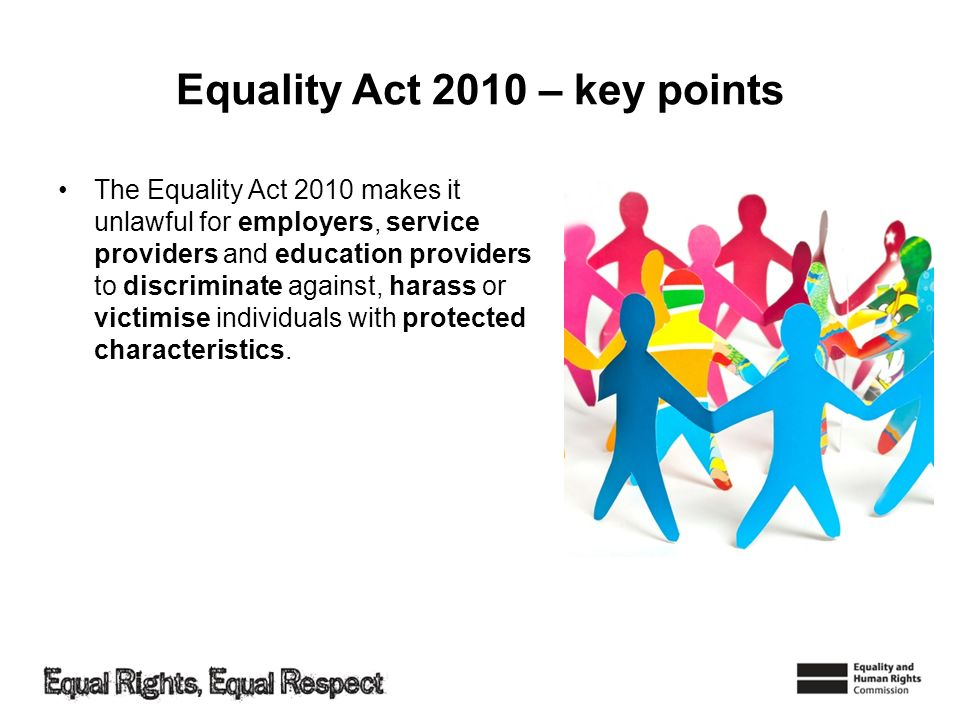 Equality Act 2010 – key points