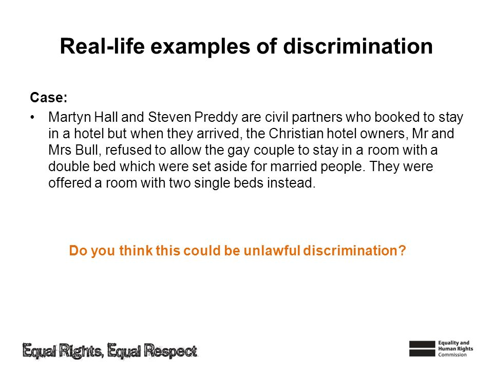 Real-life examples of discrimination