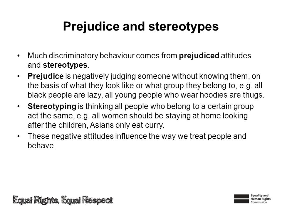 Prejudice and stereotypes