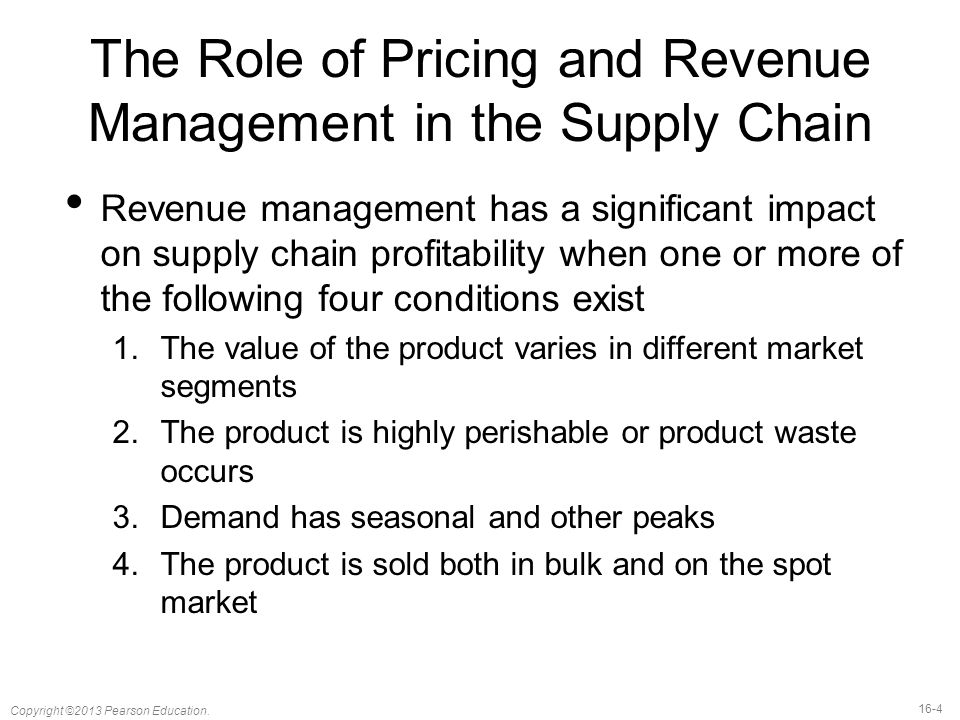 pricing and revenue management in the The role of pricing and revenue management systems is to optimise the product for different kinds of customers pricing and revenue managers use data-driven, yield management systems to.