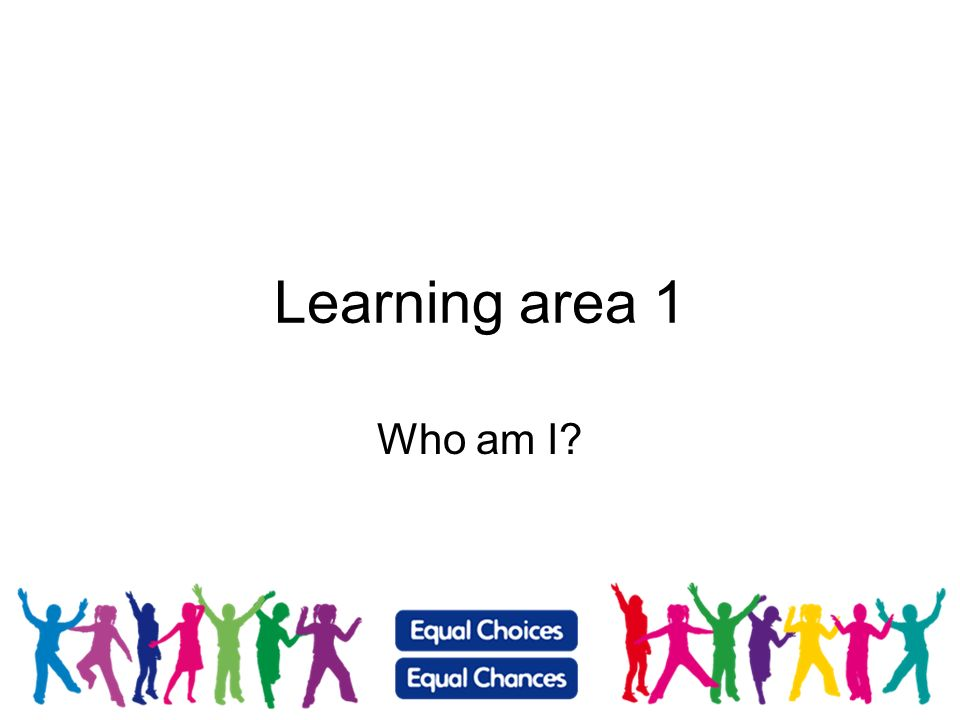 Learning area 1 Who am I