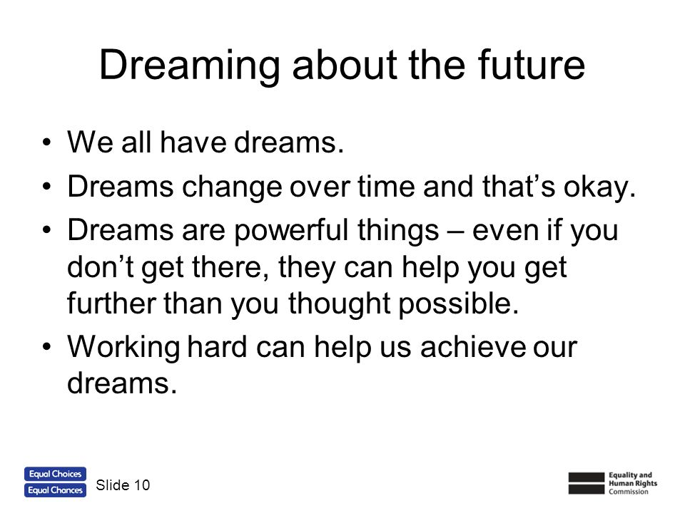 Dreaming about the future