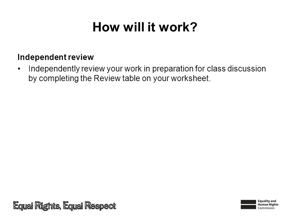 How will it work Independent review