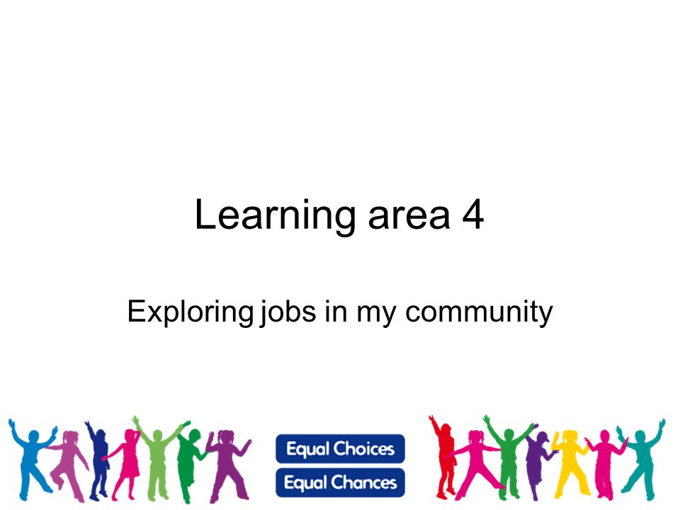 Exploring jobs in my community