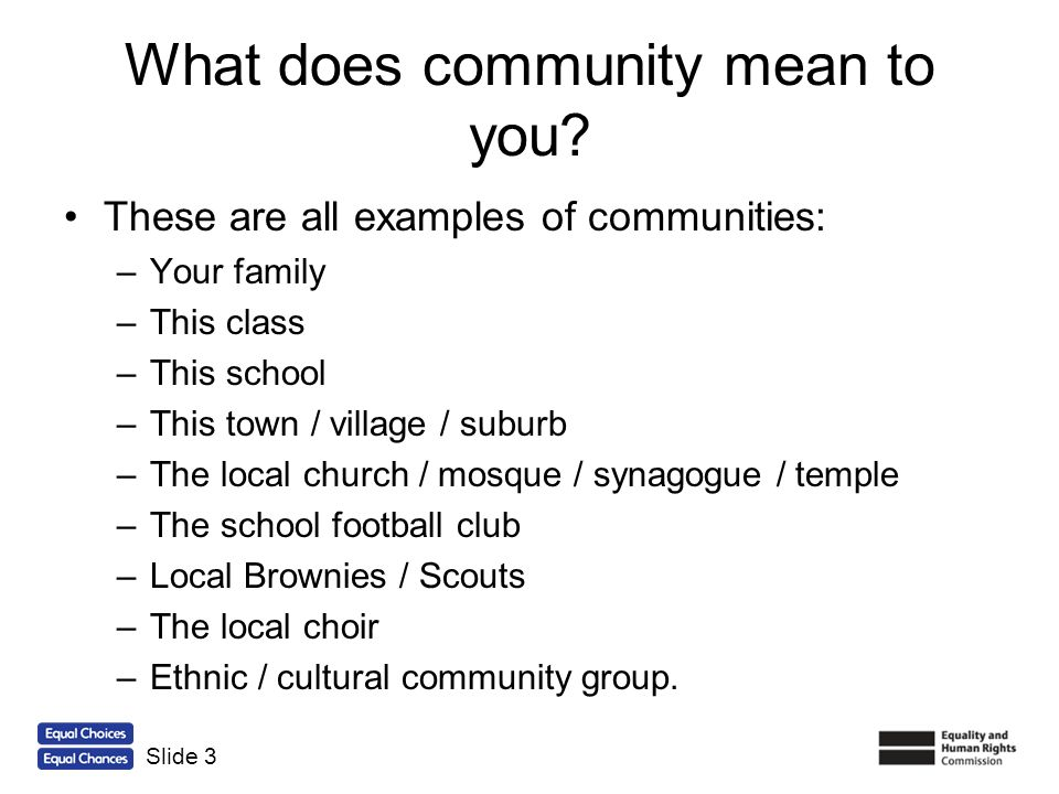 What does community mean to you