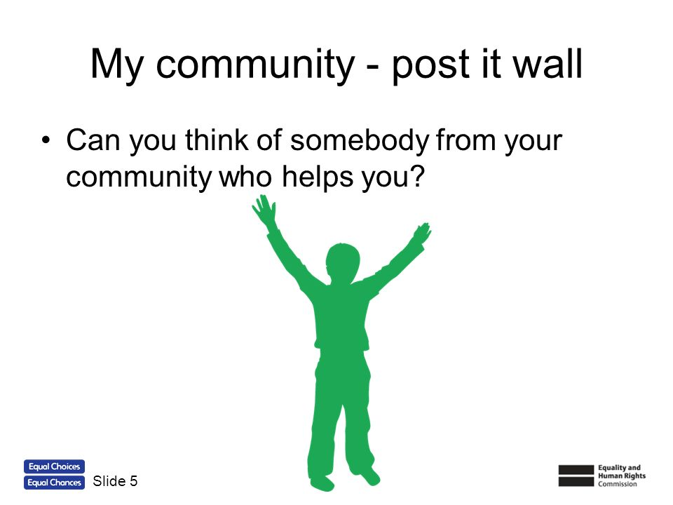 My community - post it wall