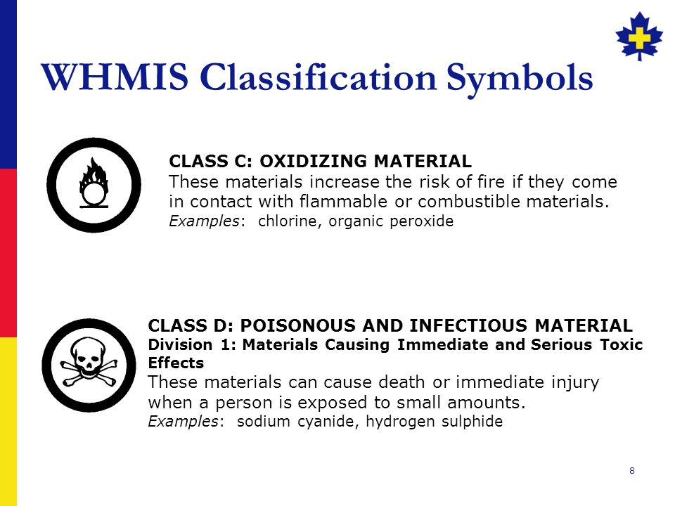 Workplace Hazardous Materials Information System (WHMIS) - ppt ...