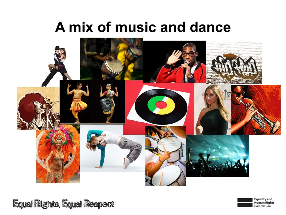 A mix of music and dance