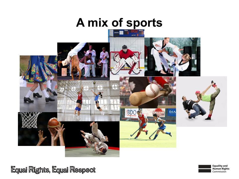 A mix of sports