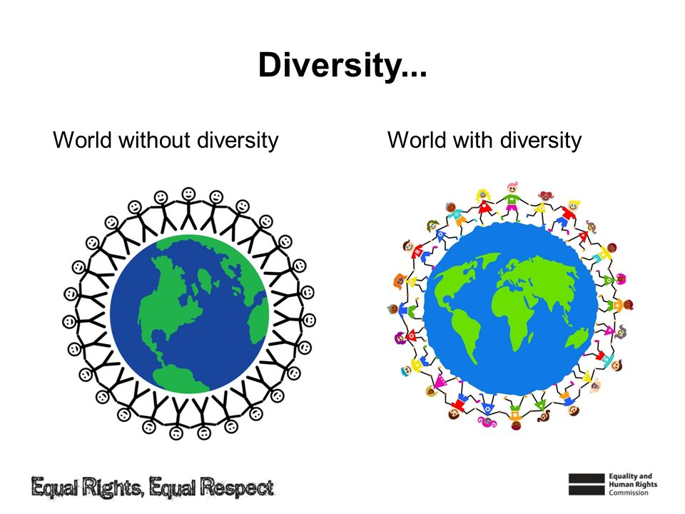Diversity... World without diversity World with diversity
