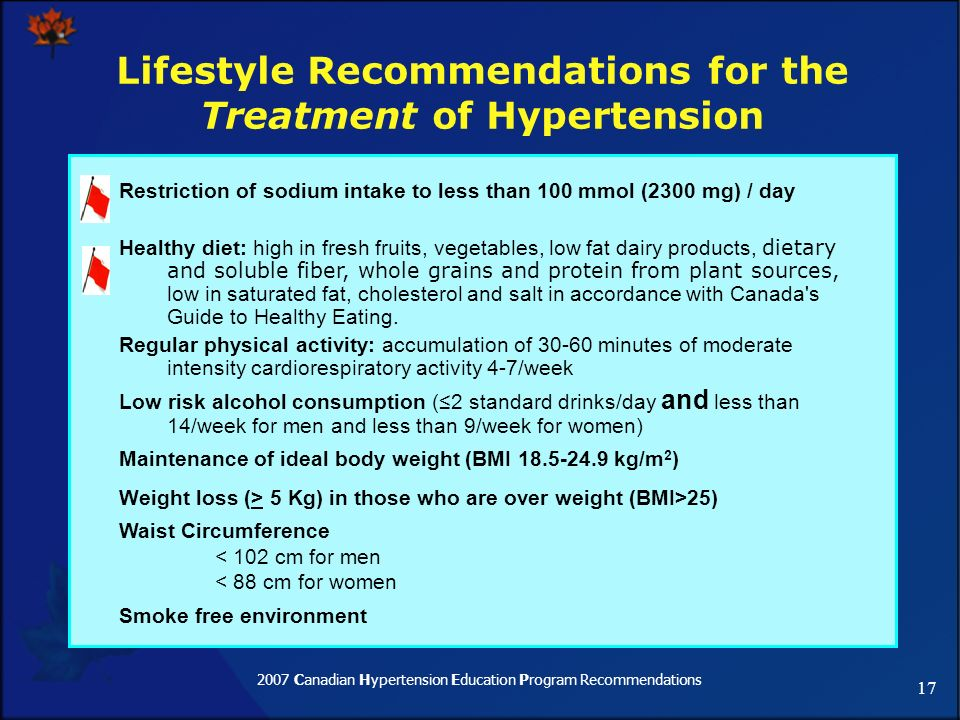 Part 2: Recommendations for Hypertension Treatment - ppt ...