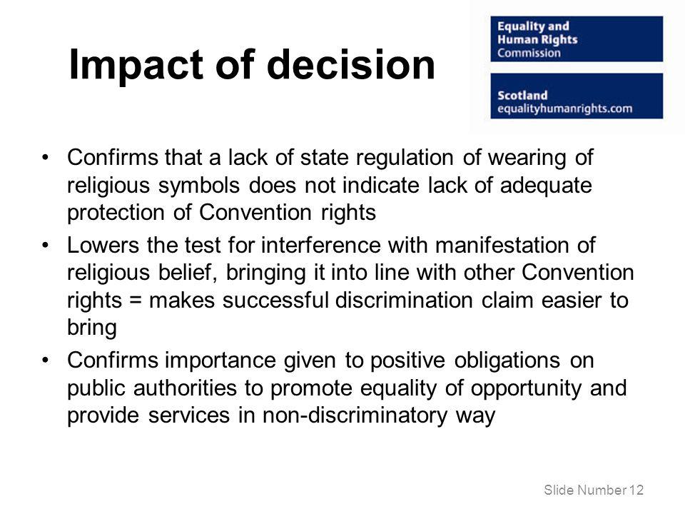 Impact of decision