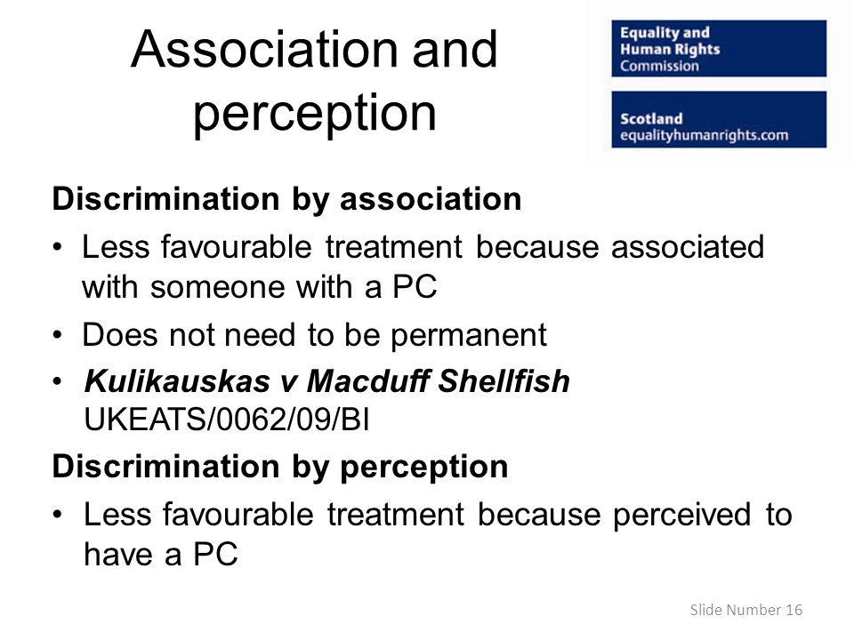 Association and perception