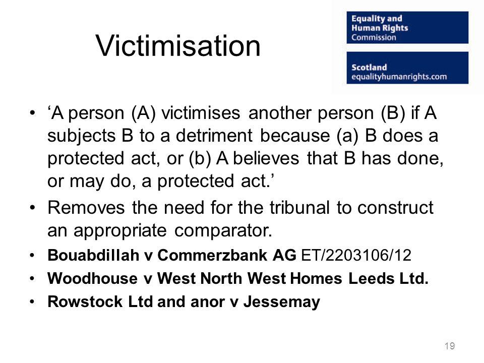Victimisation