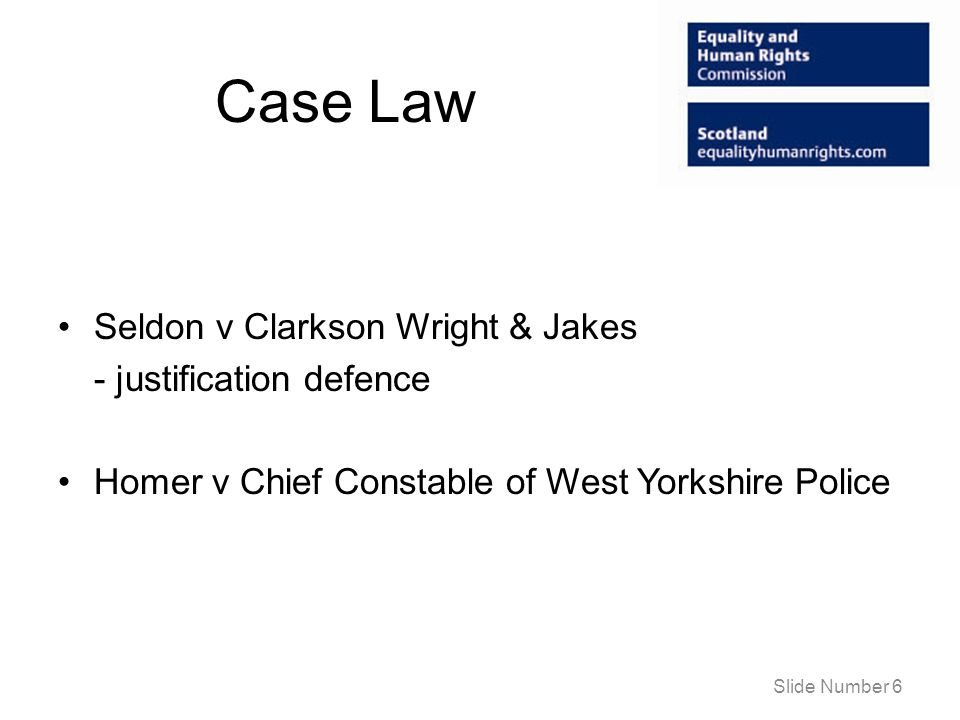 Case Law Seldon v Clarkson Wright & Jakes - justification defence