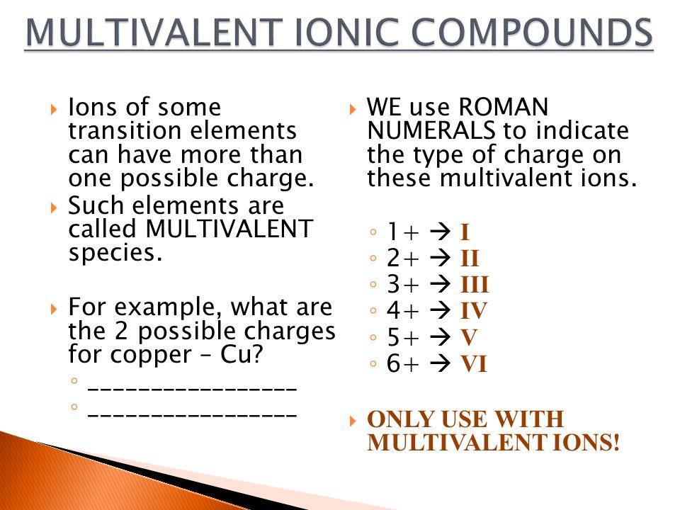 Multivalent ionic compounds ppt video online download