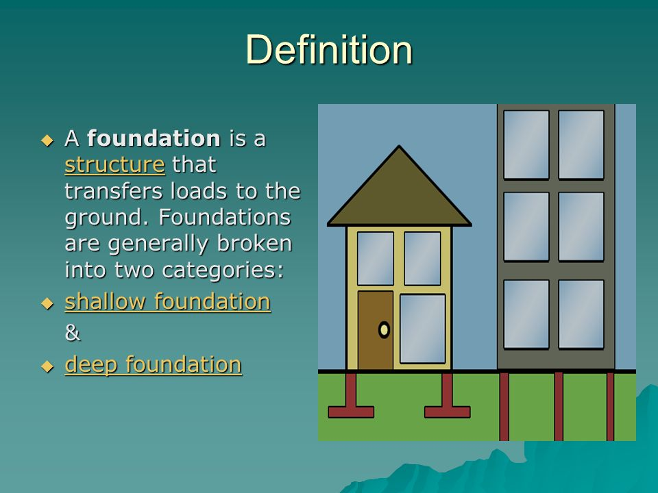 Details of construction lecture 2 shallow foundation for Definition construction