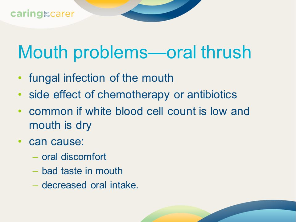 Mouth problems—oral thrush
