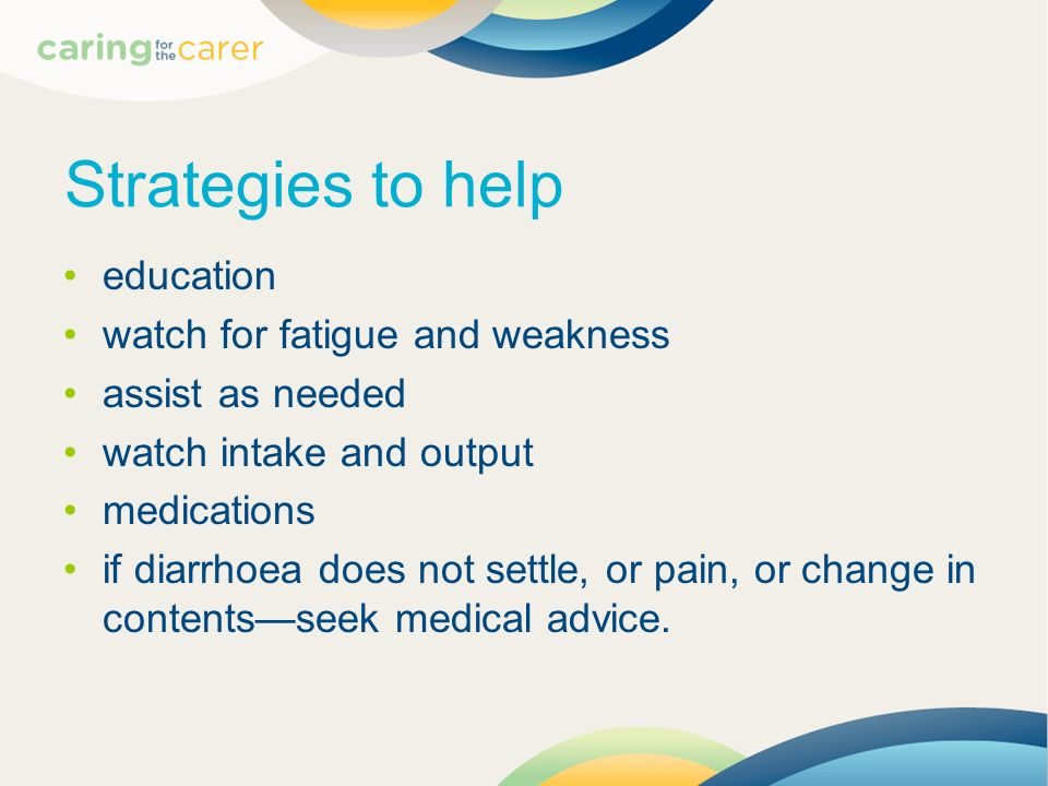 Strategies to help education watch for fatigue and weakness