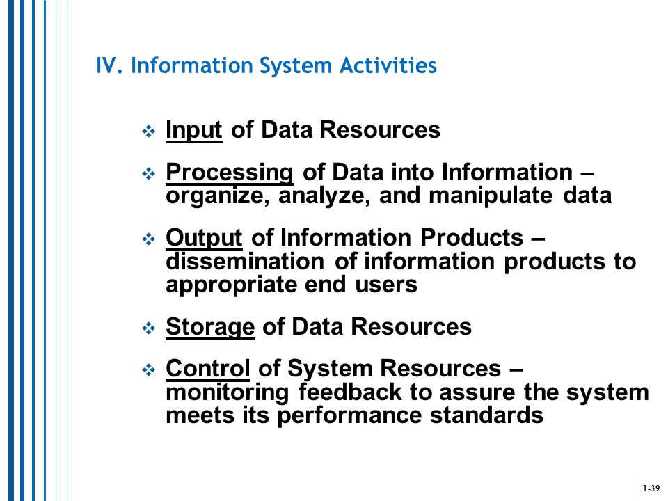 foundations of information systems chapter 1 Chapter 1: what is an information system david t bourgeois learning objectives upon successful completion of this chapter, you will be able to.