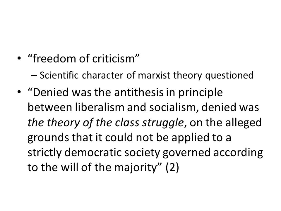 freedom of criticism