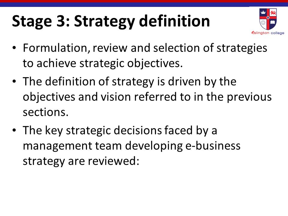 defination of strategic objectives Framework in strategic planning and objective setting is both give and take (freeman, 1984) in fact, and in practice, organization objectives are what the organization wants from its key stakeholders.