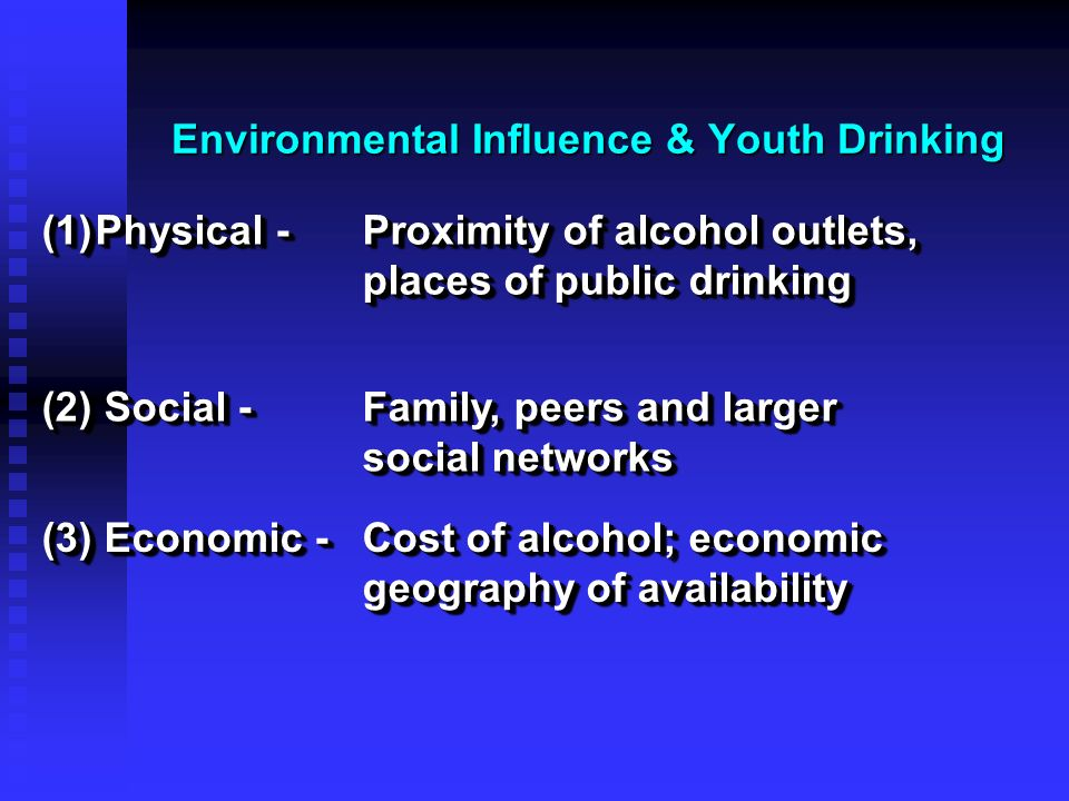 Environmental Influence & Youth Drinking