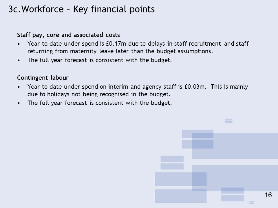 3c.Workforce – Key financial points