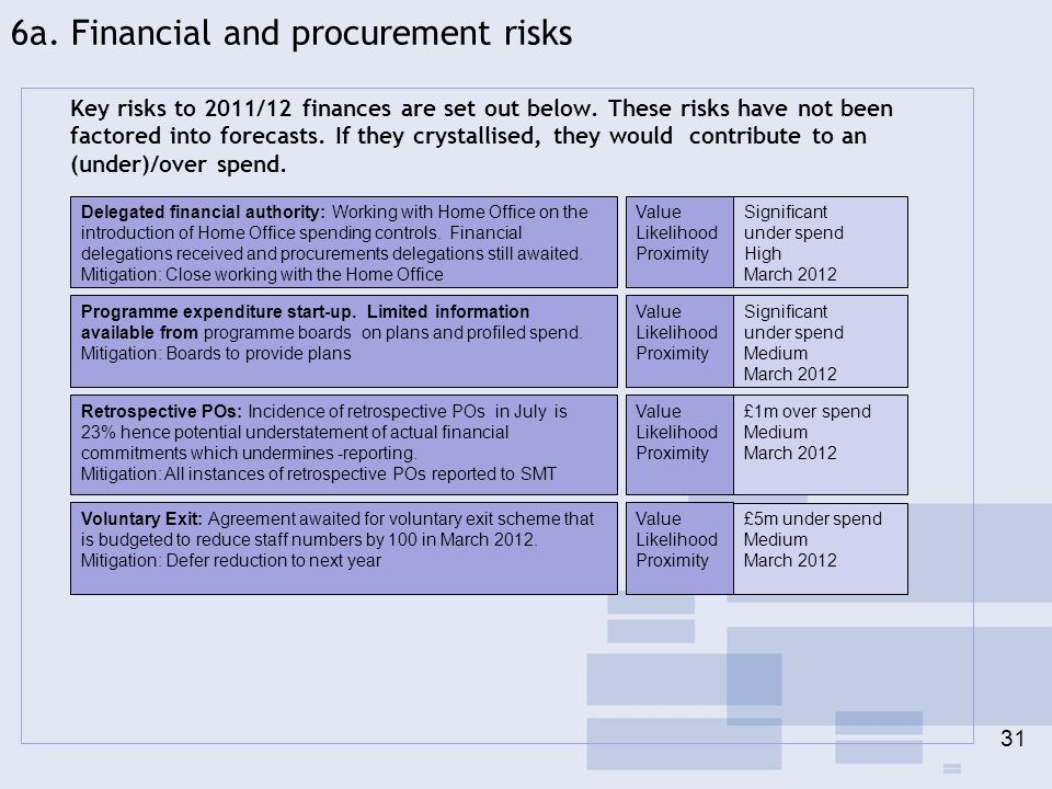 6a. Financial and procurement risks