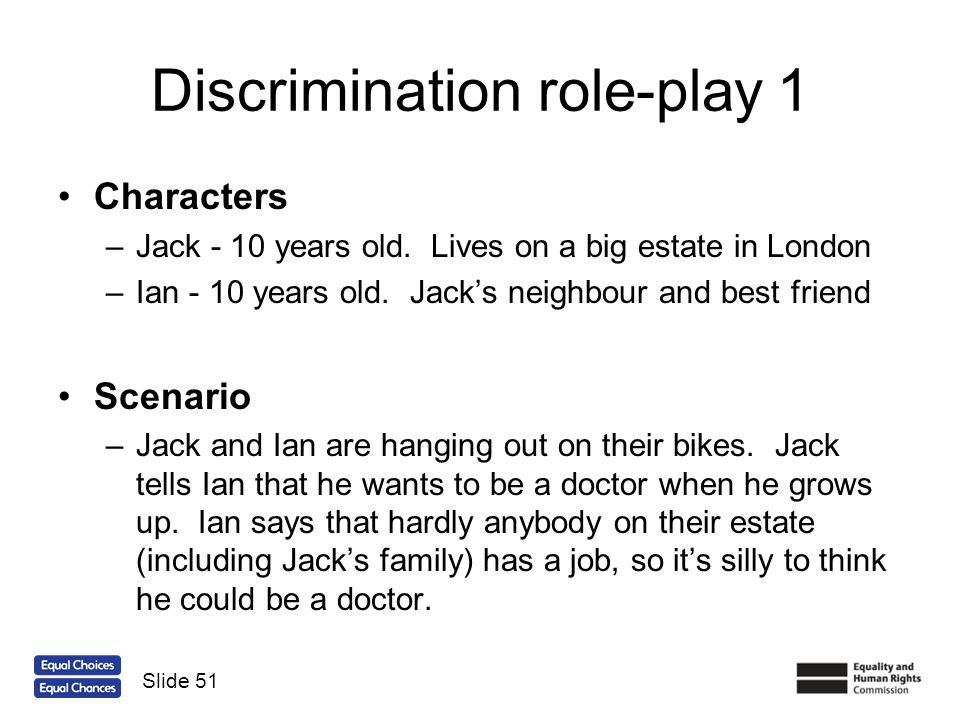 Discrimination role-play 1