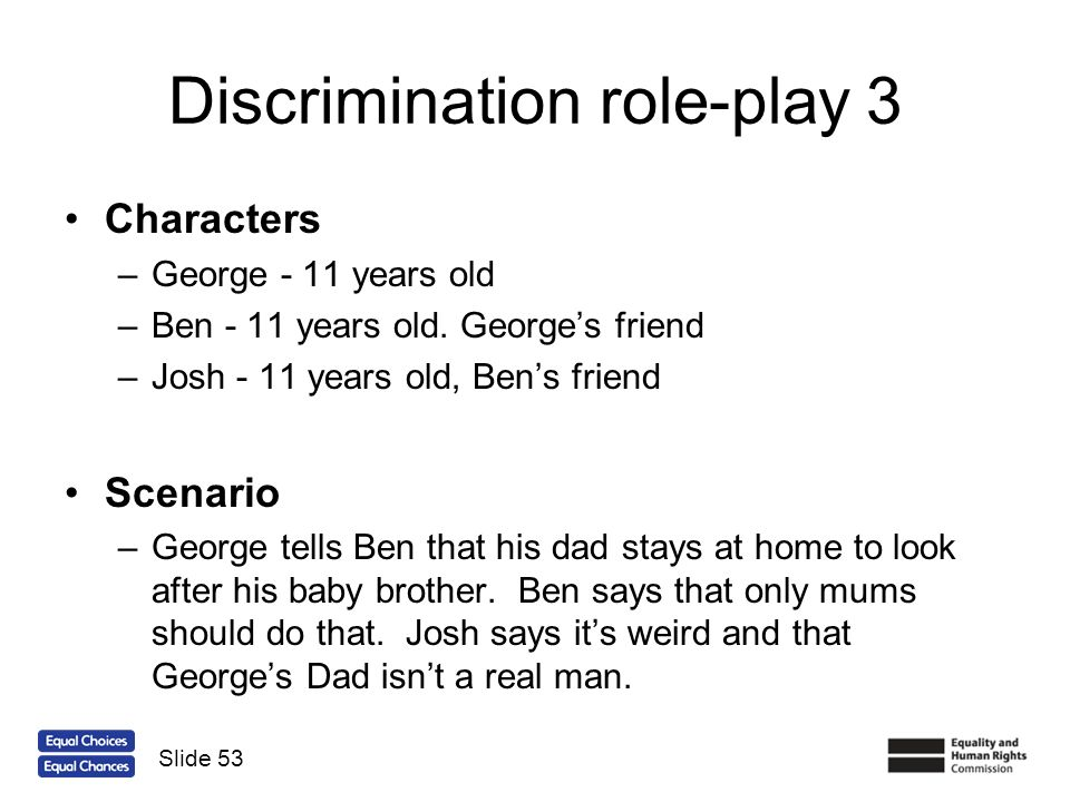 Discrimination role-play 3