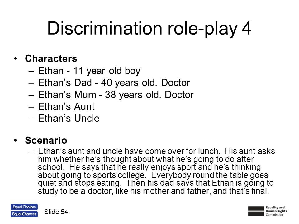 Discrimination role-play 4