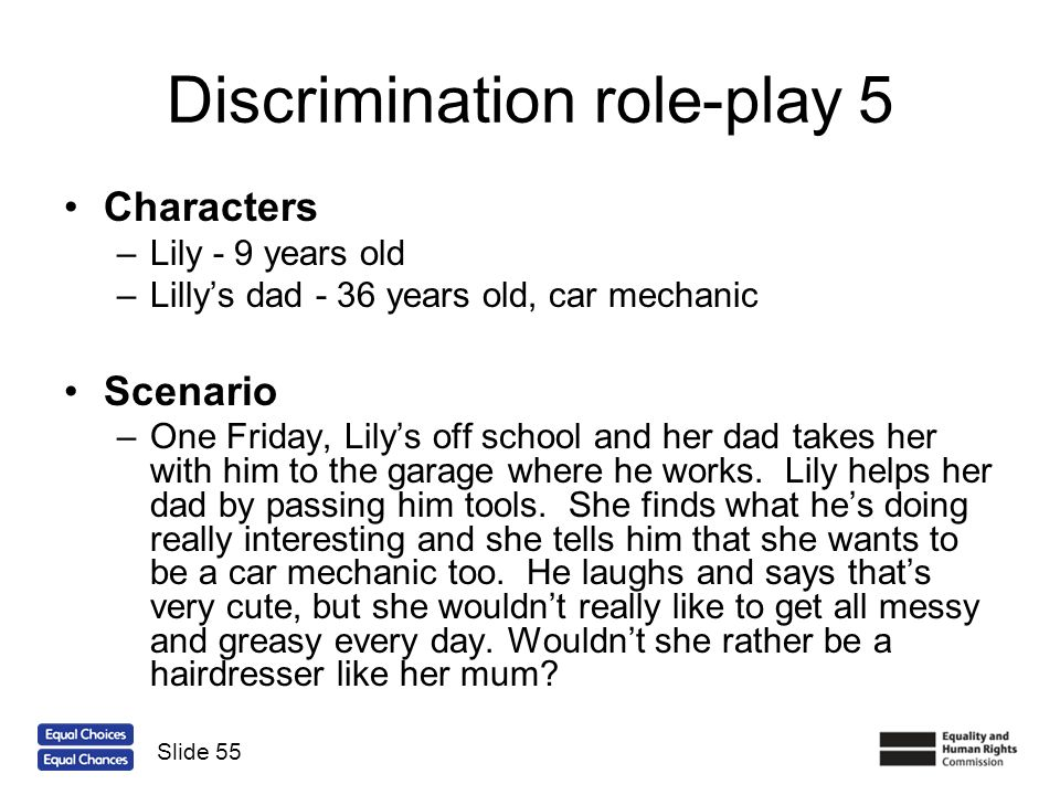 Discrimination role-play 5