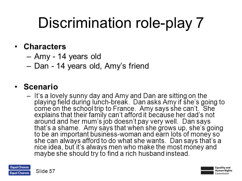 Discrimination role-play 7