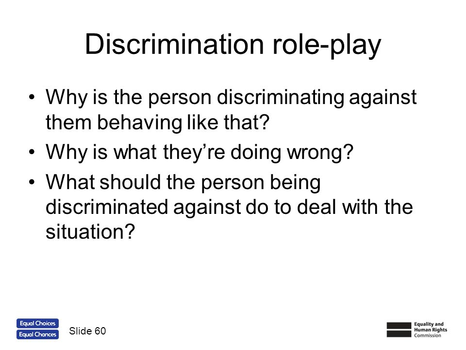 Discrimination role-play