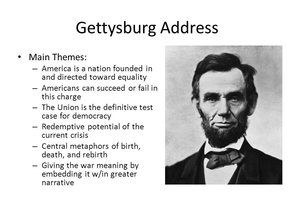 Gettysburg Address Main Themes: