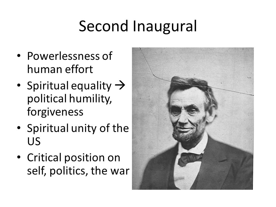 Second Inaugural Powerlessness of human effort