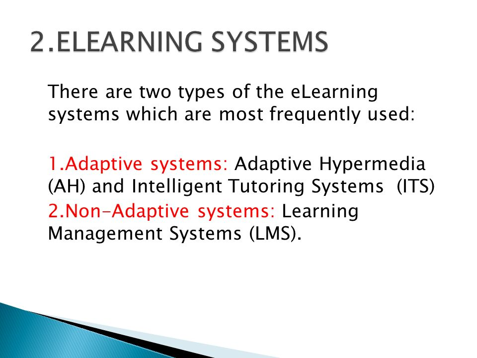 2.ELEARNING SYSTEMS
