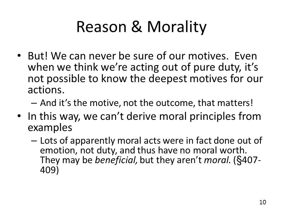 Reason & Morality