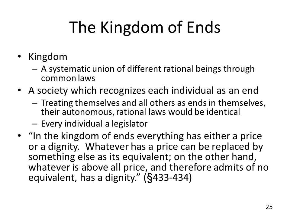 The Kingdom of Ends Kingdom
