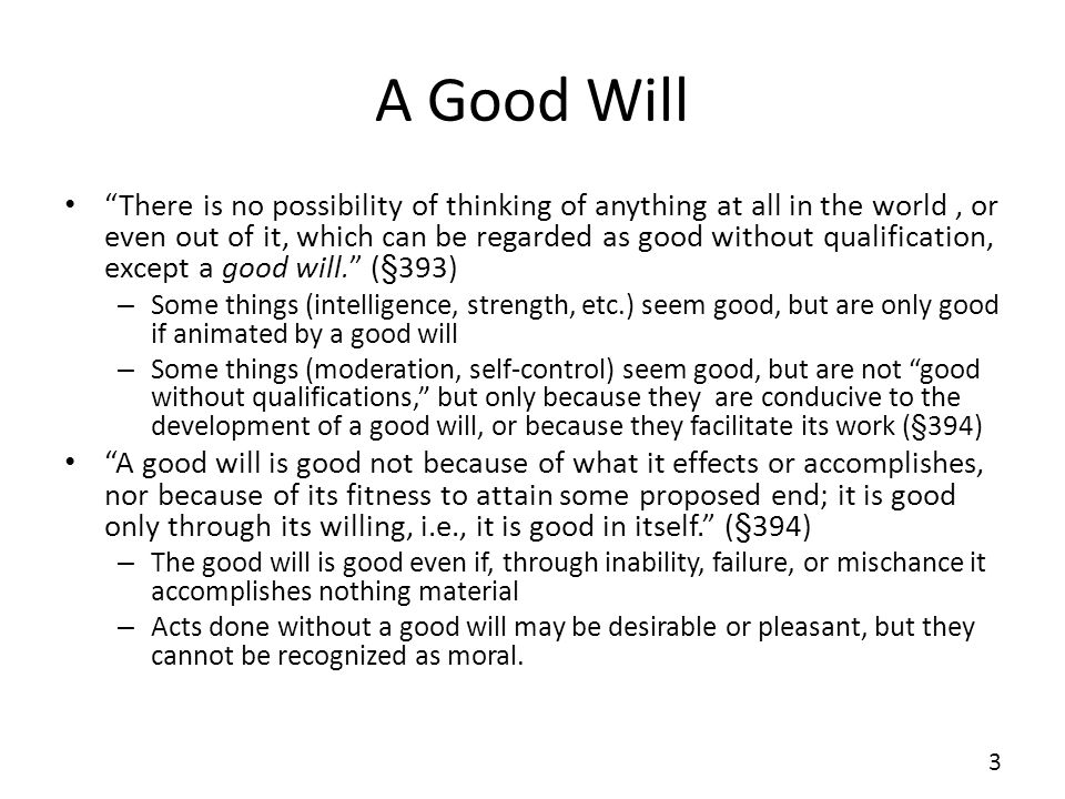 A Good Will
